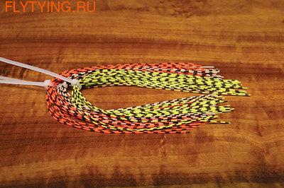 Hareline 58107 Полосатые резиновые ножки Grizzly Barred Rubber Legs Medium