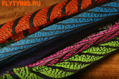 Hareline 53114 Центральное хвостовое перо алмазного фазана Lady Amherst Center Tail Feather (фото)