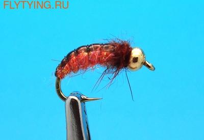 Mikkus & Caddis 14215 Мушка нимфа ручейника GH Caddis Larva Burnt Orange