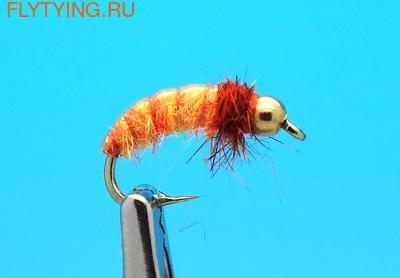 Mikkus & Caddis 14220 Мушка нимфа ручейника GH Caddis Larva Orange