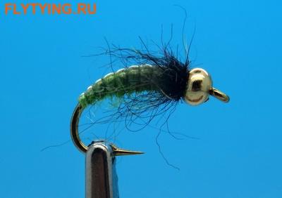 Mikkus & Caddis 14221 Мушка нимфа ручейника GH Caddis Larva Green Olive (фото)