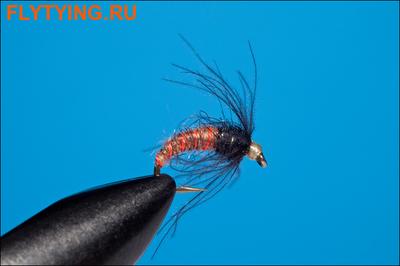 Rusangler 14324 Мушка нимфа CDC Dark Buzzer