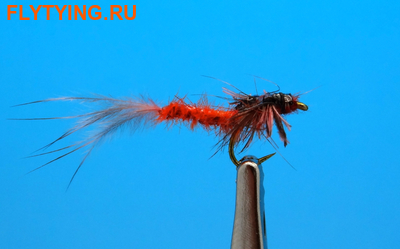 Artflies 14397 Мушка нимфа поденки Realistic Extended Body Swimming Nymph Red Brown