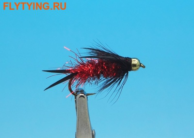 Pacific Fly Group 14447 Мушка нимфа Bead Prince Nymph Red