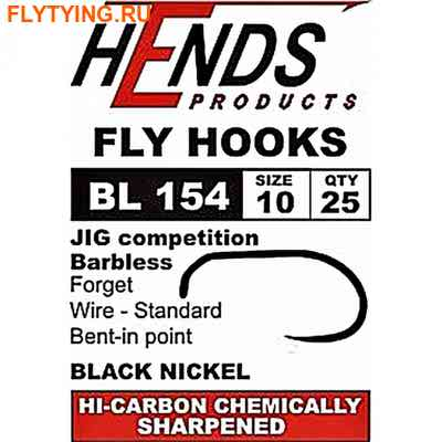 Hends Products 60226 Крючок одинарный Jig Barbless Competition Black Nickel BL154 BN (фото)