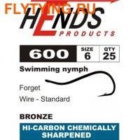 Hends Products 60292 Крючок одинарный Squirmy Worms Bronze HP 600 BZ (фото)