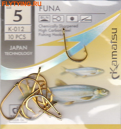Kamatsu 60480 Крючок одинарный FUNA Gold