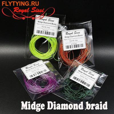 Royal Sissi 52215 Материал для тела мушки Midge Diamond Braid (фото)