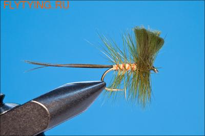 11065 Сухая мушка Dry May Fanwing Green
