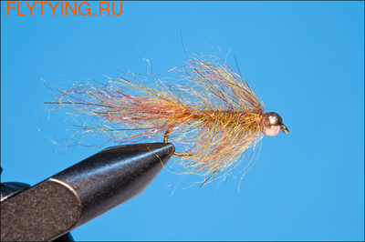 Rusangler 14120 Мушка нимфа Bead Head Simi Leech Spectrum Olive