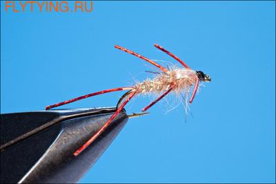 Rusangler 14132 Мушка нимфа Hares Ear Neon Rubber Leg