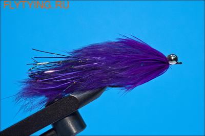 Rusangler 16042 Лососевая мушка Hare Ball Leech Purple