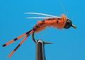 SFT-studio 14050 Мушка нимфа BH Prince Nymph Rubber Leg Hot Orange