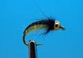 Mikkus & Caddis 14219 Мушка нимфа ручейника GH Caddis Larva Black Back Cream
