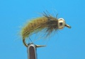 Mikkus & Caddis 14232 Мушка нимфа личинка ручейника BH Fluffy Caddis Larva Golden Olive