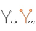STONFO™ 58087 Пластиковые глазки PLASTIC EYES V TYPE