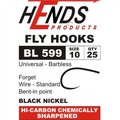 Hends Products 60291 Крючок одинарный HP Shrimp, Pupa, Lures Barbless Black Nickel BL599 BN