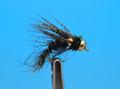 14074 Мушка нимфа ручейника DBL BH Birds Nest - Black