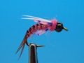 14045 Мушка нимфа BH Prince Nymph Rubber Leg Pink