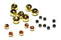 58009 Вольфрамовые граненые головки с вырезом Faceted Slotted Tungsten Beads