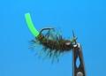 14051 Мушка нимфа Squirm Tasty Bug Olive/Chart