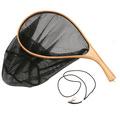 81116 Деревянный подсачек с изогнутой рукояткой Wood Handle Curved Fishing Net