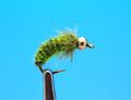 14230 Мушка нимфа куколка ручейника GH Caddis Pupa Ribbing Dk.Olive/Chartreuse
