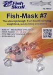 58084 Прозрачные пластиковые головки FISH MASK